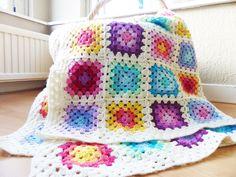 Granny square blanket on Haak maar Raak!