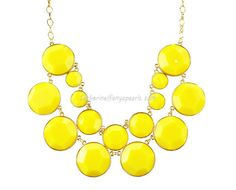 Yellow Bubble Jewelry, Yellow Bubble Necklace, Cluster Necklace, Yellow Necklace (Fn0575-Yellow). $13.90, via Etsy.