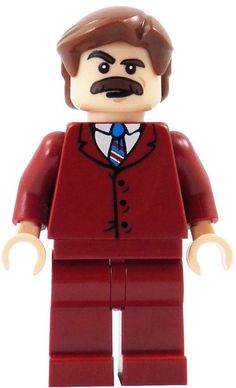 America's most beloved mustachioed newscaster has been immortalized in the form of everyone's favorite toy. The limited edition Ron Burgundy Lego Minifigure ($20), while not an official Lego product, is pad printed on genuine Lego parts, and features everything you love about the highest rated man in news. From his unmistakeable burgundy suit, to his magnificent mustache, to his well-coifed hair, right down to his bottle of scotch.