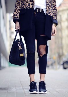 Black sneakers go with everything