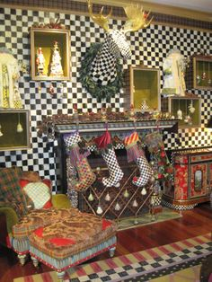 Love it--great holiday displays on 2nd floor of MacKenzie Childs NYC store.
