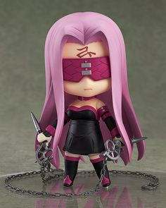"""**Limited-time offer! Get FREE shipping worldwide on pre-order items! The free shipping makes it a great buy! Now is your only chance!**      **Offer Ends: Jan 15, 2015 (JST)**      **""""I shall kill you with grace...""""**   From the popular anime series 'Fate/stay night [Unlimited Blade Works]' comes a Nendoroid of the Rider-class servant from the 5th Holy Grail War, Rider! She comes with two expressions including both her standard expression as well as a shouting expression ideal for combat…"""