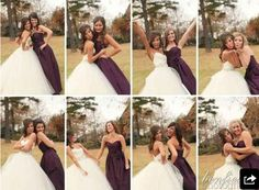 Individual shots with the bridesmaids! They're important too!
