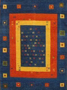 Gabbeh Design Rug on Chairish.com