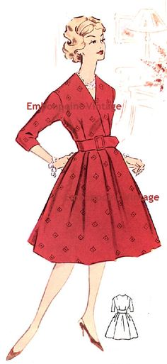 New to EmbonpointVintage on Etsy: Plus Size (or any size) Vintage 1950s Dress Pattern - PDF - Pattern No 21: Elizabeth (11.73 AUD)