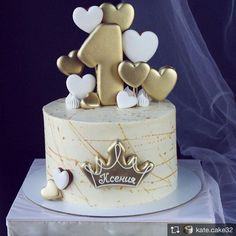 18 new ideas birthday cake girls awesome fondant 1st Birthday Cake For Girls, Baby Birthday Cakes, Baby Boy Cakes, Baby Shower Cakes, Birthday Cake Disney, Birthday Cake Crown, Heart Birthday Cake, Tortas Deli, Bolo Barbie