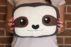 barton  sloth pillow  cute sloth face plush by thesmokingsquirrel, $28.00 #holidaygiftguide #sloth