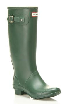 Hunter Huntress Boxed Rain Boots In Green » Great for spring!