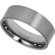 Men's wide Titanium Flat Wedding Ring with a satin textured finish Titanium Wedding Rings, Titanium Rings, Rings For Men, Engagement Rings, Classic, Enagement Rings, Derby, Men Rings, Wedding Rings