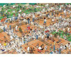Puzzle Jumbo El Torneo de Tenis de 1000 Piezas