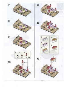 LEGO Disney Princess Belle's Castle - Lego tricks / hacks - - Robin is Life Lego Disney Princess, Princesses Disney Belle, Lego Princesse Disney, Lego Mecha, Lego Batman, Lego Marvel, Lego Duplo, Lego Creations Instructions, Belle's Castle