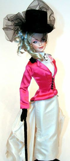 Barbie (Reminds me of Downton Abbey!) FROM: http://media-cache-ec0.pinimg.com/originals/8a/18/95/8a1895786015054c41f1d6827af06ab4.jpg