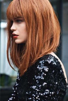 Image result for long inverted bob with bangs