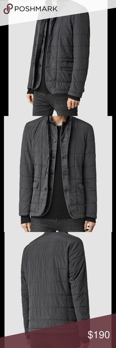 AllSaints Halsey Puffa Slate Grey Wool Jacket SX For Sale is a stunning All Saints Halsey Puffa Slate Grey Jacket Size XS  Fabric 100% nylon Contrast 60%  Wool, 40% Polyamide. All Saints Jackets & Coats