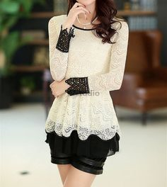 Blouse Shirt Korean Style Women Blouse Great for by YJstudio, $59.00