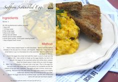 Saffron Scrambled Eggs. A wonderful way to excite your morning eggs.