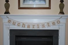 Eucharisteo Fabric banner/Give Thanks