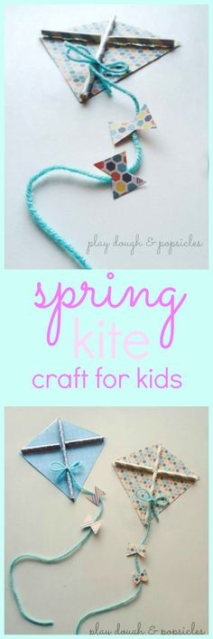 Spring Kite Craft For Kids. Easy to make using Card Stock and Paper Straws. Perfect K craft for preschoolers. Craft Projects For Kids, Craft Activities For Kids, Toddler Activities, Activity Ideas, Educational Activities, Outdoor Activities, Preschool Themes, Preschool Crafts, Preschool Science