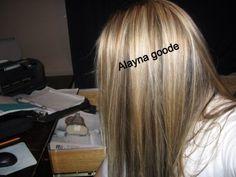 Blonde hair highlights & lowlights !