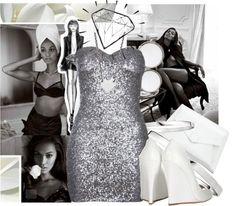 """Grey & White"" by niknik78 on Polyvore"