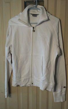 Nike Air Women's Running White Full Zip Hoodie Jacket Sz M in Athletic Apparel | eBay