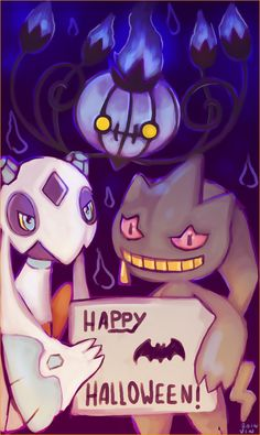 My Frosslass, Alice, my Banette Inception, and my Chandelure, Flare. HOLIDAY ART Also a contest entry. Gotta Catch Them All, Catch Em All, Ghost Pokemon, Haunted Dolls, Creepy Cute, Happy Halloween, Alice, Deviantart, Holiday