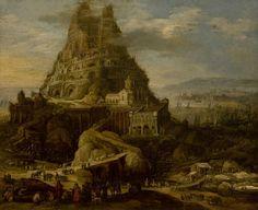 Joos de Momper (1564-1635) - Toren van Babel - Lissabon Museu Nacional de Arte Antiga