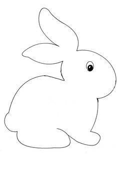1 million+ Stunning Free Images to Use Anywhere Easter Bunny Template, Easter Templates, Bunny Templates, Easter Printables, Art Drawings For Kids, Drawing For Kids, Easy Drawings, Easter Art, Easter Crafts