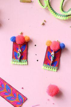 DIY earrings Frida Kahlo