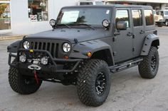 2012 'Line-X' Jeep Wrangler Unlimited - Completely covered with Line-X.