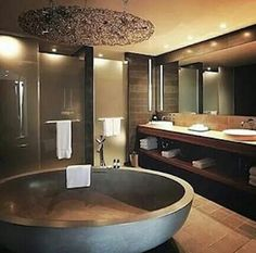 Well yea I would love this tub in the middle of my bathroom to swim in