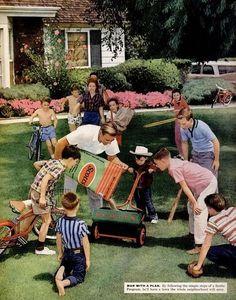 1950s Suburbia | 1950S Suburbia | Scotts lawn care, 1959 | Suburbia | Pinterest