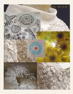 Concept collage, Hand and Lock Embroidery Competition 2014, Meta McKinney, 2nd place winner, Student Category  Instructor:  Beata Kania