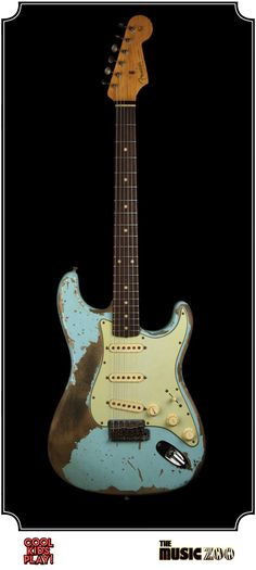 Fender Ultimate Relic : 62 Stratocaster Masterbuilt by Jason Smith for The Music Zoo. Relic'd Daphne Blue
