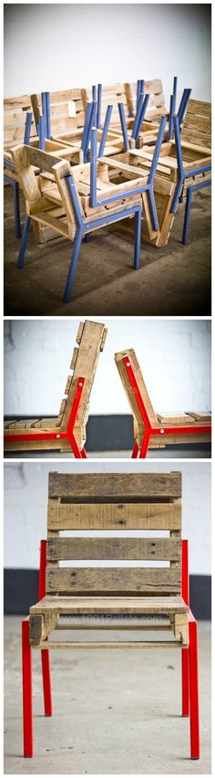 #Design, #PalletChair, #RecycledPallet