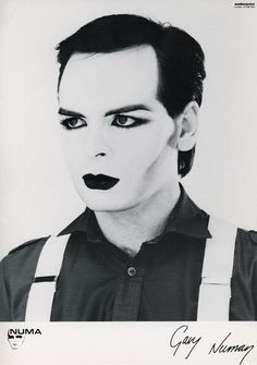 Gary Numan. Got an idea of turning this into some wall art for my brother?