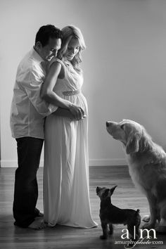 Maternity pictures with the dogs! Love it!!