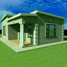 Flat Roof House Designs, House Fence Design, Small House Design, Free House Plans, House Layout Plans, Family House Plans, Single Storey House Plans, Tuscan House Plans, House Plans South Africa