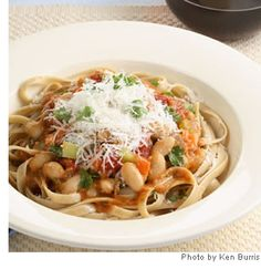 """rich-tasting vegetarian take on pasta Bolognese."" Web MD has a bunch of healthy recipes that I'd like to try!! I'm ready to start eating much healthier. UPDATE: I tried this and it is very good and full of flavor!"