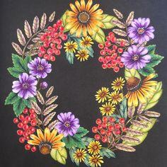 #blomstermandala #mariatrolle #staedtlerpencils #aquarelle #colorcollectionbyconte