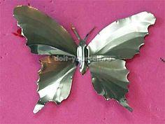 Как сделать бабочку из алюминиевой баночки