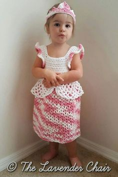 Valerie's Princess Dress Crochet Pattern PDF by TheLavenderChair: