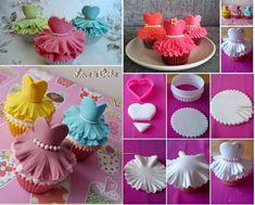 Wonderful DIY Cute Ballerina Cupcake