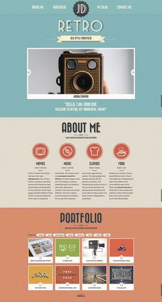 30 Retro WordPress Themes for Hipsters - Hongkiat Website Design Layout, Book Design Layout, Web Layout, Website Design Inspiration, Page Design, Resume Layout, Website Designs, Website Ideas, Design Design