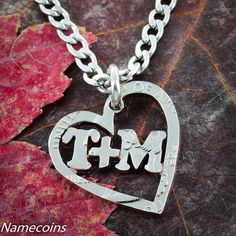 Custom Heart Necklace with your Name or Relationship by NameCoins