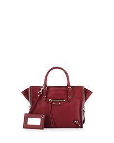e54c5e5e6285 Balenciaga Papier A4 Mini Zip-Around Leather Tote Bag