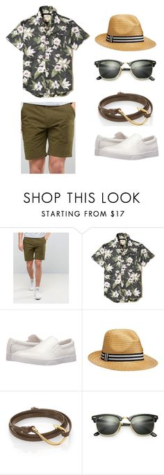 """""""Pool Party Look"""" by alexisnoelvasquez on Polyvore featuring PS Paul Smith, Hollister Co., Calvin Klein, Old Navy, MIANSAI, Ray-Ban, men's fashion and menswear"""
