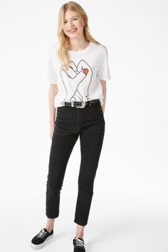 Statement tee - Print perfection - Tops - Monki FR