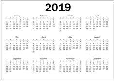 23 Best Top 10 Free 2019 Calendar Printable Images