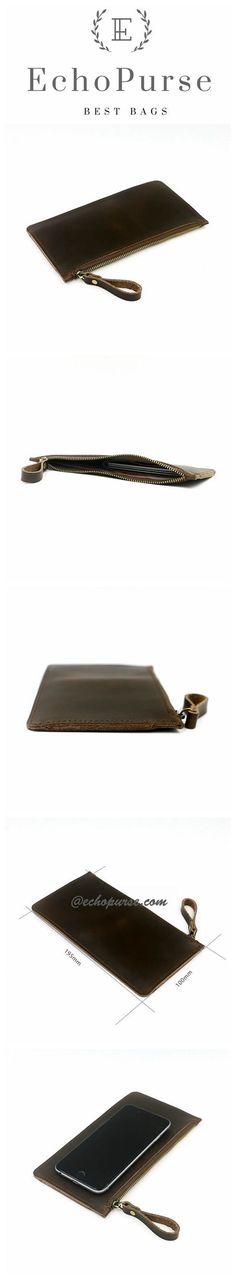 Handmade Original Design Wallet, Zipper Long Simple Cell Wallet MY013